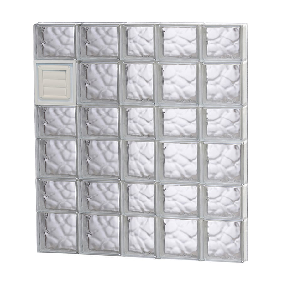 REDI2SET Wavy Glass Pattern Frameless Replacement Glass Block Window (Rough Opening: 38-in x 42-in; Actual: 36.75-in x 40.5-in)