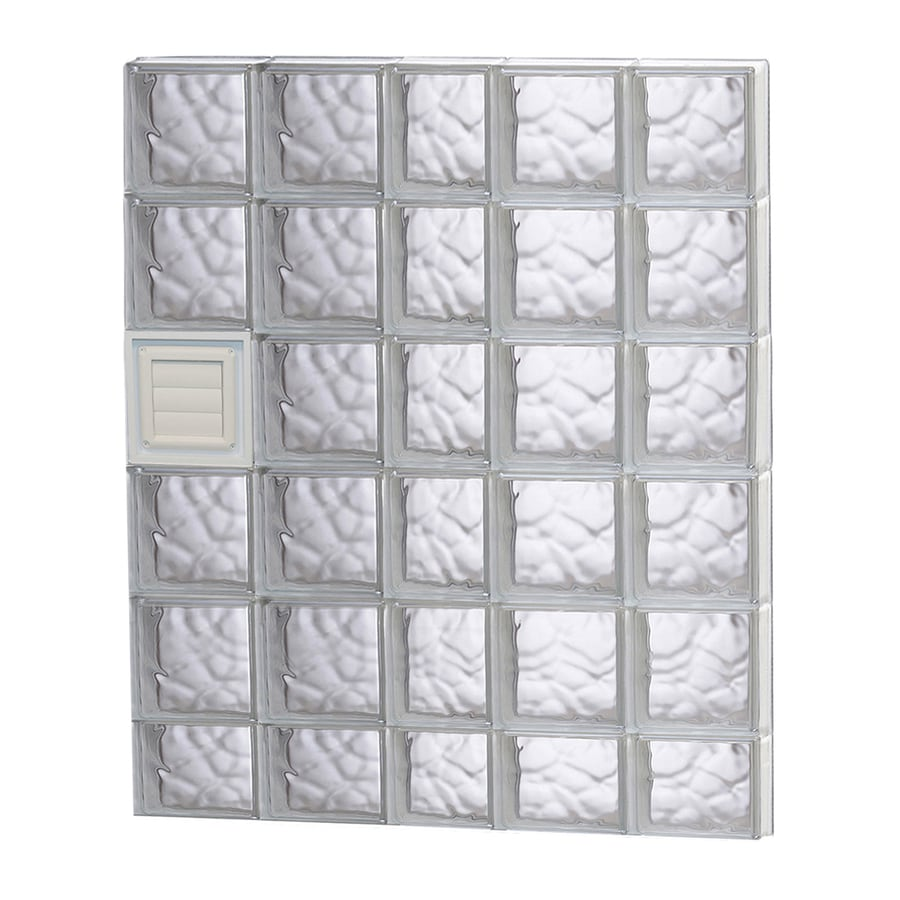 REDI2SET Wavy Glass Pattern Frameless Replacement Glass Block Window (Rough Opening: 38-in x 46-in; Actual: 36.75-in x 44.5-in)