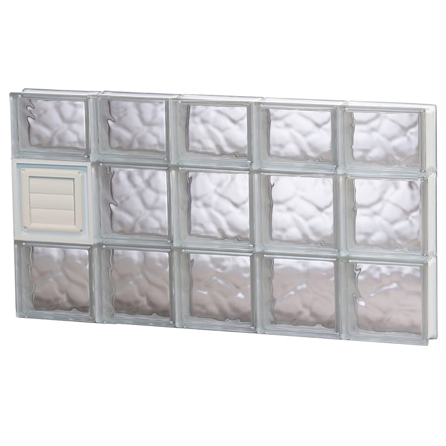 REDI2SET Wavy Glass Pattern Frameless Replacement Glass Block Window (Rough Opening: 40-in x 22-in; Actual: 38.75-in x 21.25-in)