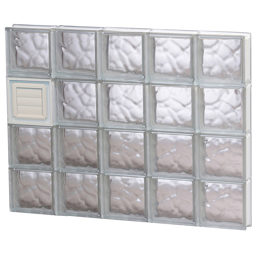 REDI2SET Wavy Glass Pattern Frameless Replacement Glass Block Window (Rough Opening: 40-in x 32-in; Actual: 38.75-in x 31-in)