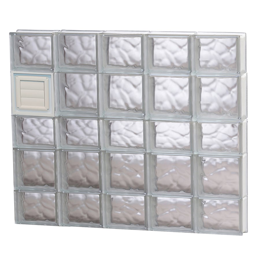 REDI2SET Wavy Glass Pattern Frameless Replacement Glass Block Window (Rough Opening: 40-in x 34-in; Actual: 38.75-in x 32.75-in)