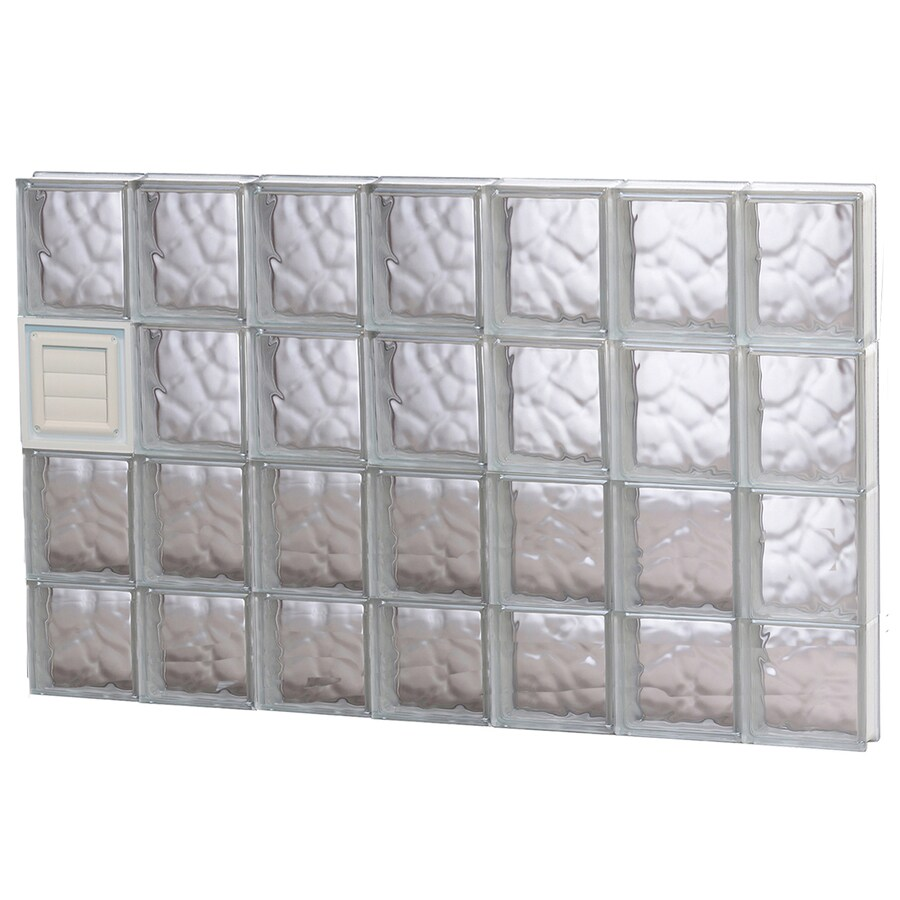 REDI2SET Wavy Glass Pattern Frameless Replacement Glass Block Window (Rough Opening: 42-in x 30-in; Actual: 40.25-in x 29-in)