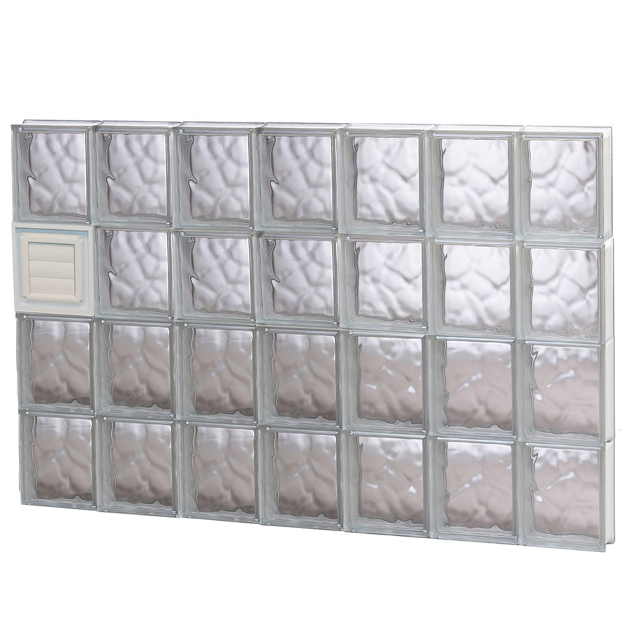REDI2SET Wavy Glass Pattern Frameless Replacement Glass Block Window (Rough Opening: 42-in x 32-in; Actual: 40.25-in x 31-in)