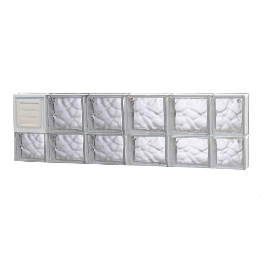 REDI2SET Wavy Glass Pattern Frameless Replacement Glass Block Window (Rough Opening: 44-in x 14-in; Actual: 42.5-in x 13.5-in)