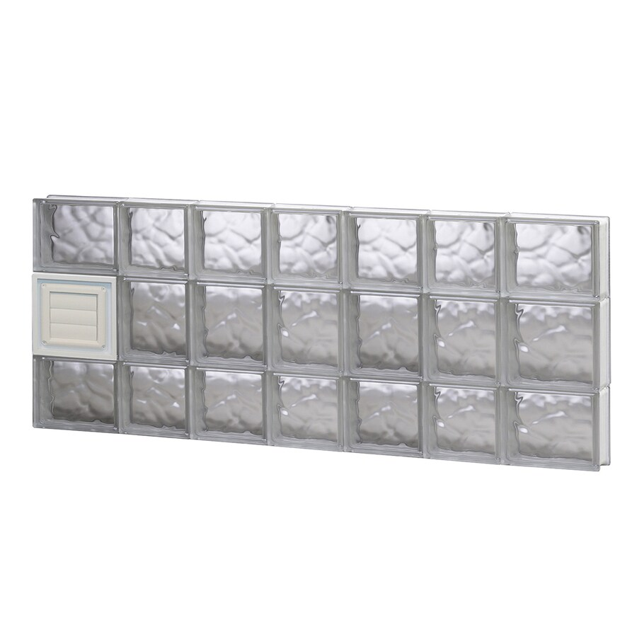 REDI2SET Wavy Glass Pattern Frameless Replacement Glass Block Window (Rough Opening: 46-in x 20-in; Actual: 44.25-in x 19.25-in)