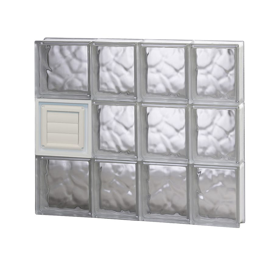 REDI2SET Wavy Glass Pattern Frameless Replacement Glass Block Window (Rough Opening: 26-in x 24-in; Actual: 25-in x 23.25-in)