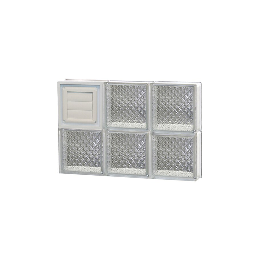 REDI2SET Diamond Glass Pattern Frameless Replacement Glass Block Window (Rough Opening: 18-in x 12-in; Actual: 17.25-in x 11.5-in)