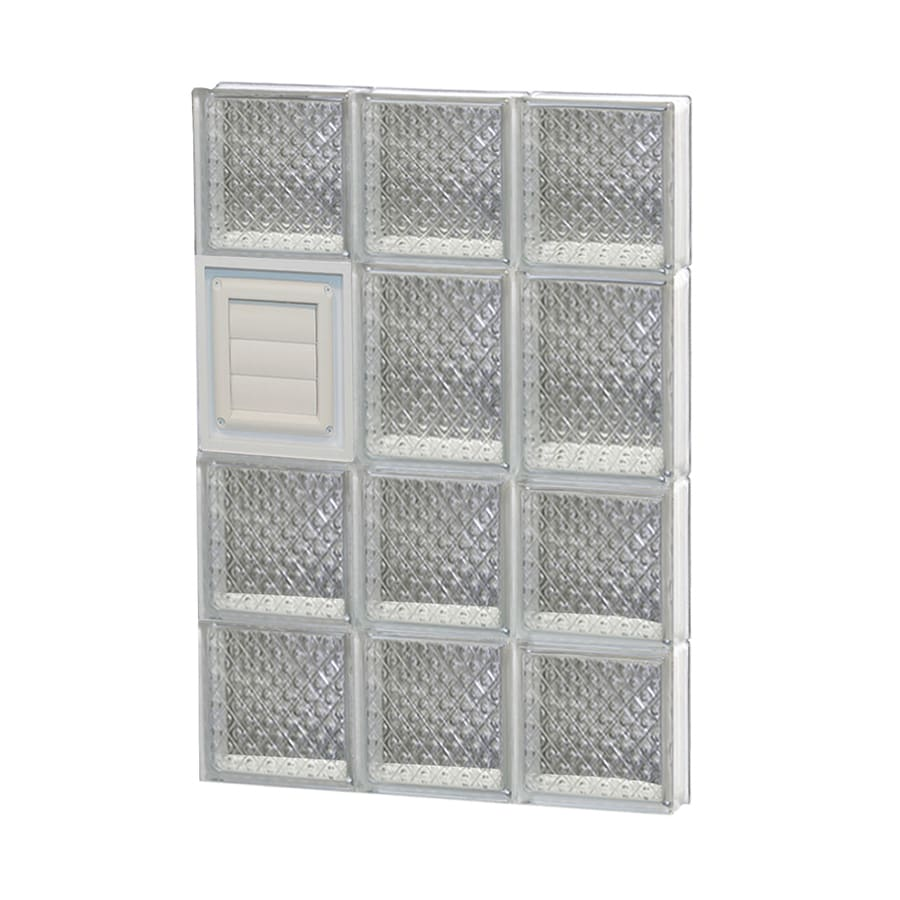 REDI2SET Diamond Glass Pattern Frameless Replacement Glass Block Window (Rough Opening: 18-in x 26-in; Actual: 17.25-in x 25-in)