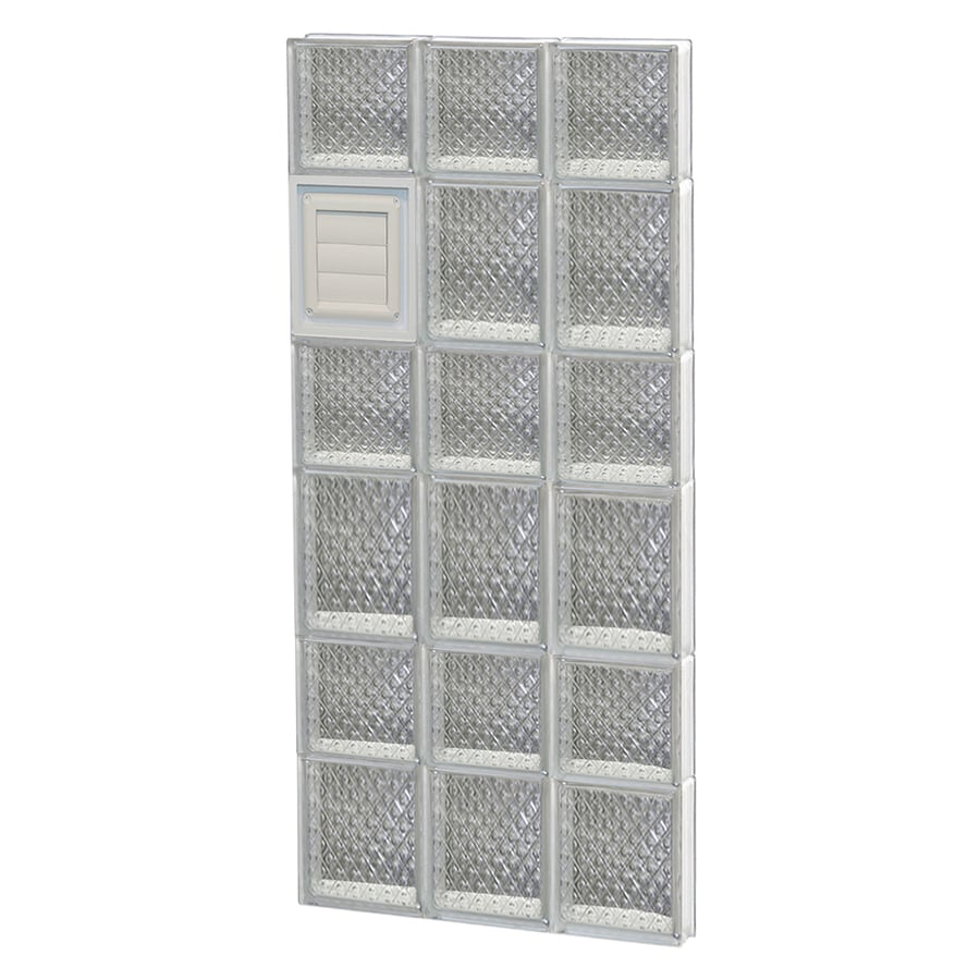 REDI2SET Diamond Glass Pattern Frameless Replacement Glass Block Window (Rough Opening: 18-in x 42-in; Actual: 17.25-in x 40.5-in)