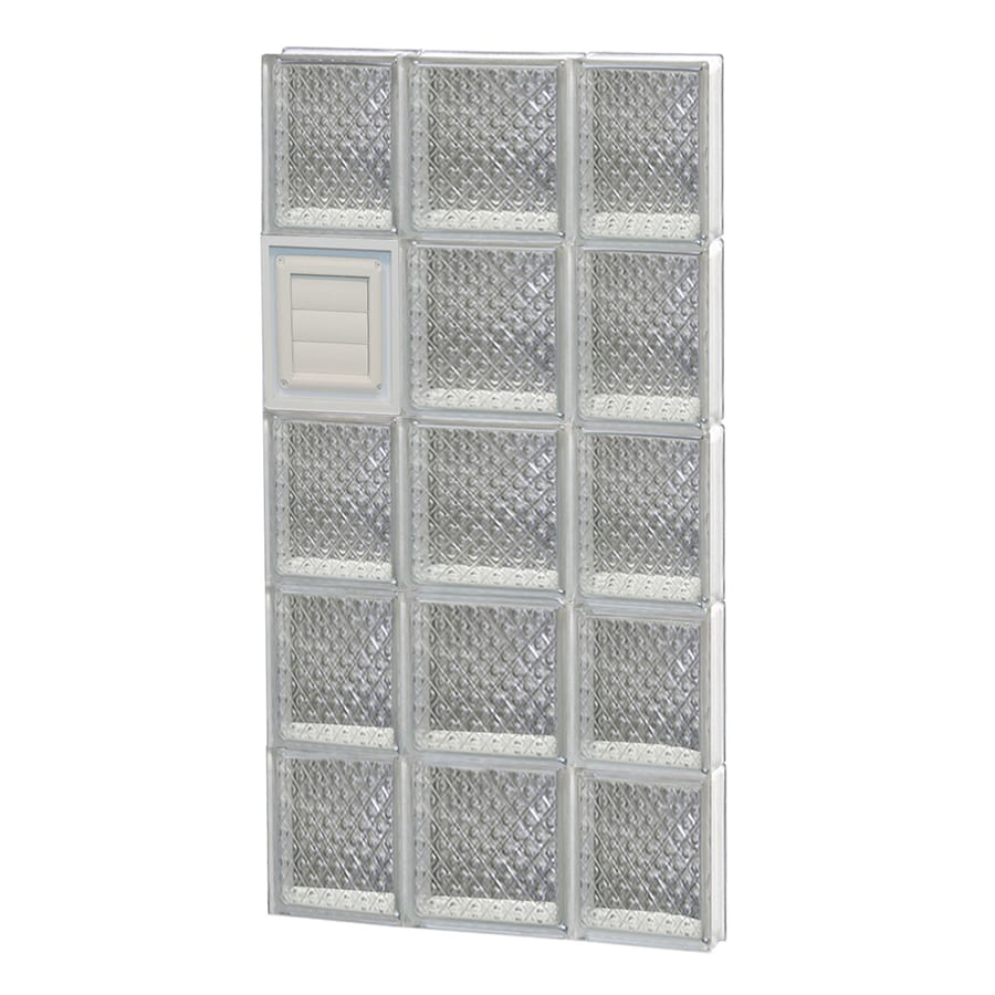 REDI2SET Diamond Glass Pattern Frameless Replacement Glass Block Window (Rough Opening: 20-in x 40-in; Actual: 19.25-in x 38.75-in)