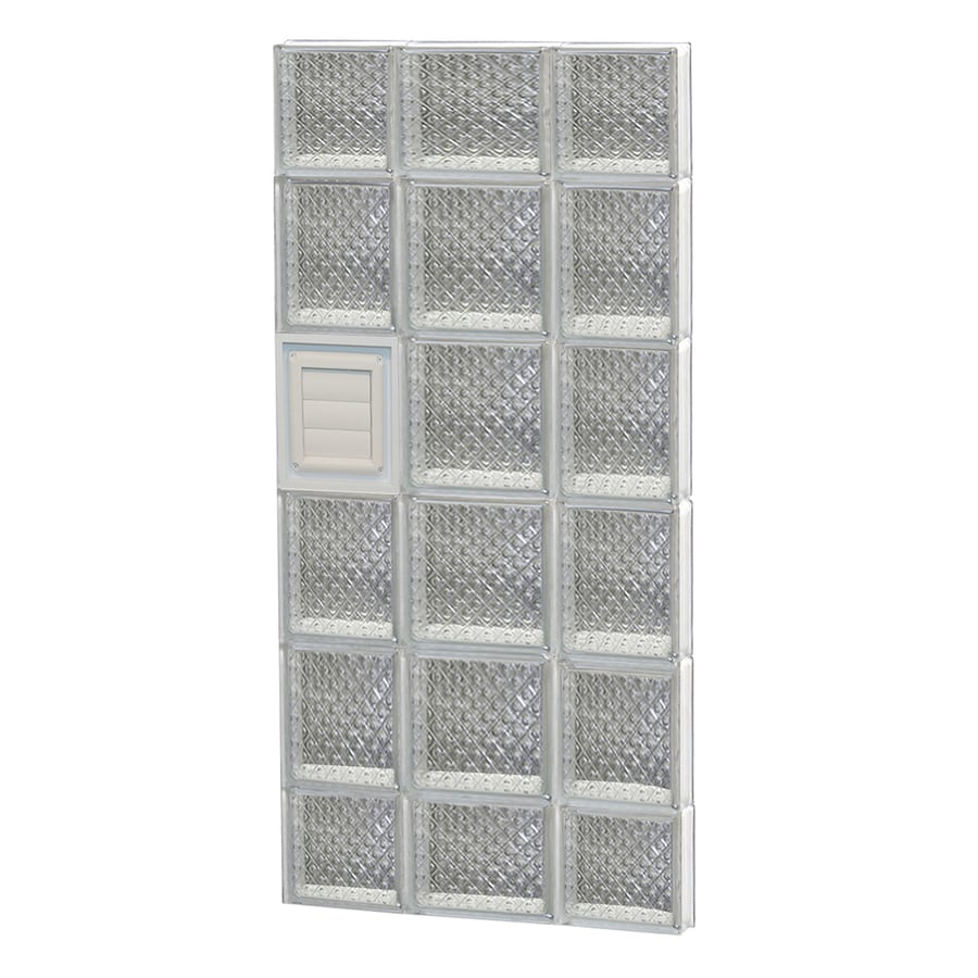 REDI2SET Diamond Glass Pattern Frameless Replacement Glass Block Window (Rough Opening: 20-in x 44-in; Actual: 19.25-in x 42.5-in)