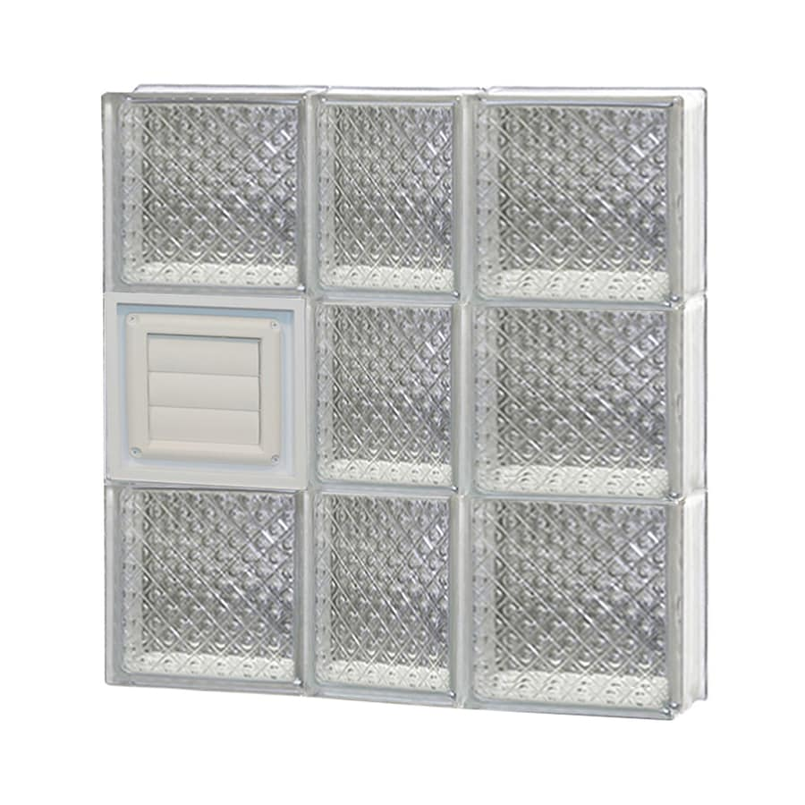 REDI2SET Diamond Glass Pattern Frameless Replacement Glass Block Window (Rough Opening: 22-in x 24-in; Actual: 21.25-in x 23.25-in)