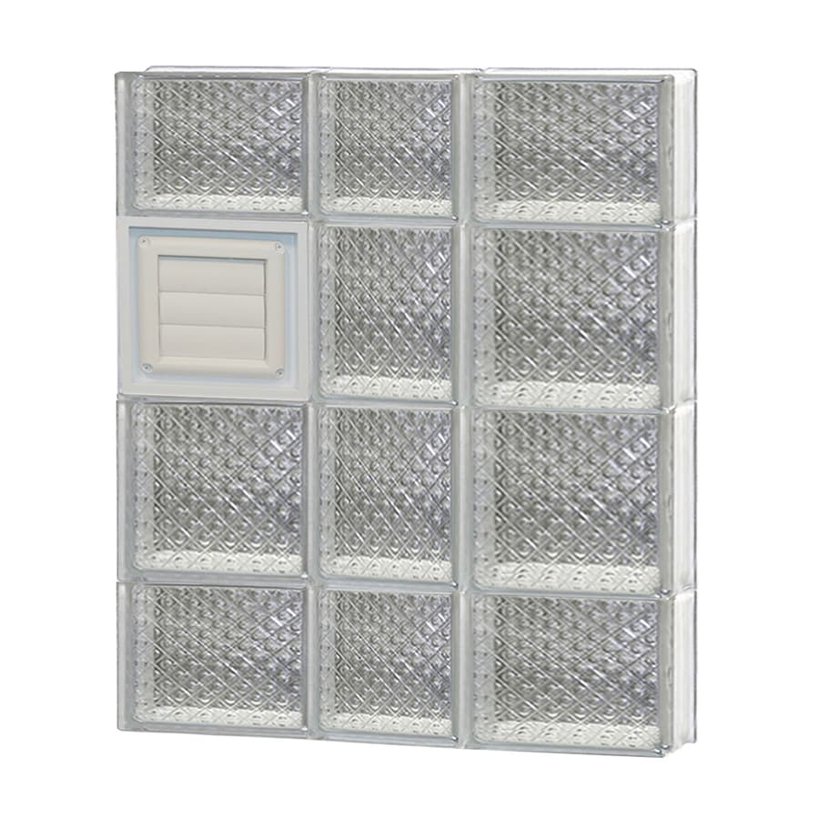 REDI2SET Diamond Glass Pattern Frameless Replacement Glass Block Window (Rough Opening: 22-in x 28-in; Actual: 21.25-in x 27-in)