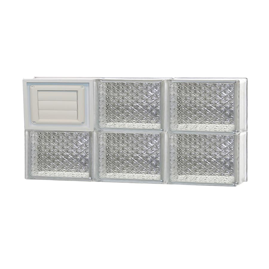 REDI2SET Diamond Glass Pattern Frameless Replacement Glass Block Window (Rough Opening: 24-in x 12-in; Actual: 23.25-in x 11.5-in)