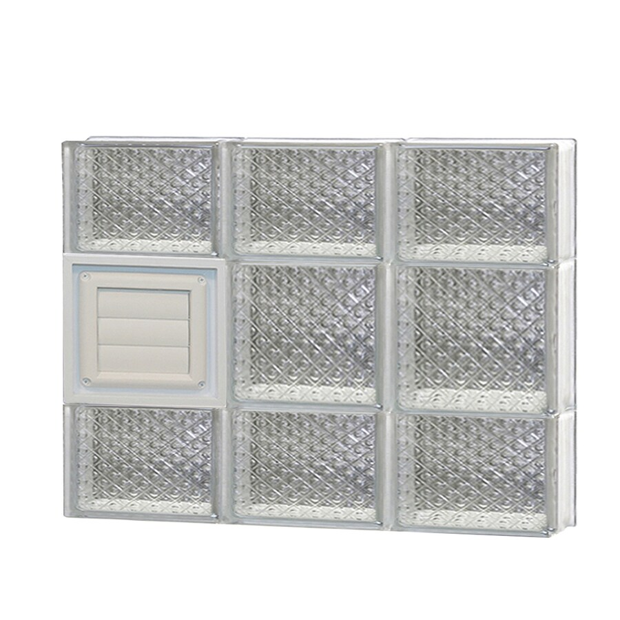 REDI2SET Diamond Glass Pattern Frameless Replacement Glass Block Window (Rough Opening: 24-in x 20-in; Actual: 23.25-in x 19.25-in)