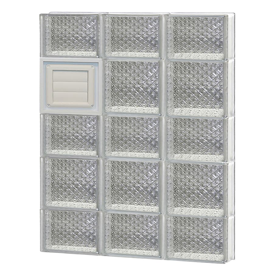 REDI2SET Diamond Glass Pattern Frameless Replacement Glass Block Window (Rough Opening: 24-in x 34-in; Actual: 23.25-in x 32.75-in)