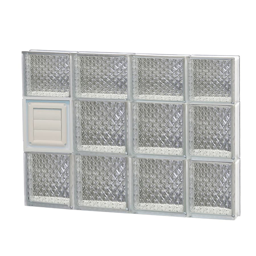 REDI2SET Diamond Glass Pattern Frameless Replacement Glass Block Window (Rough Opening: 28-in x 22-in; Actual: 27-in x 21.25-in)