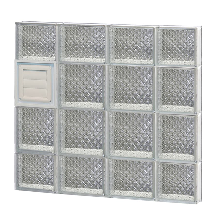 REDI2SET Diamond Glass Pattern Frameless Replacement Glass Block Window (Rough Opening: 28-in x 28-in; Actual: 27-in x 27-in)
