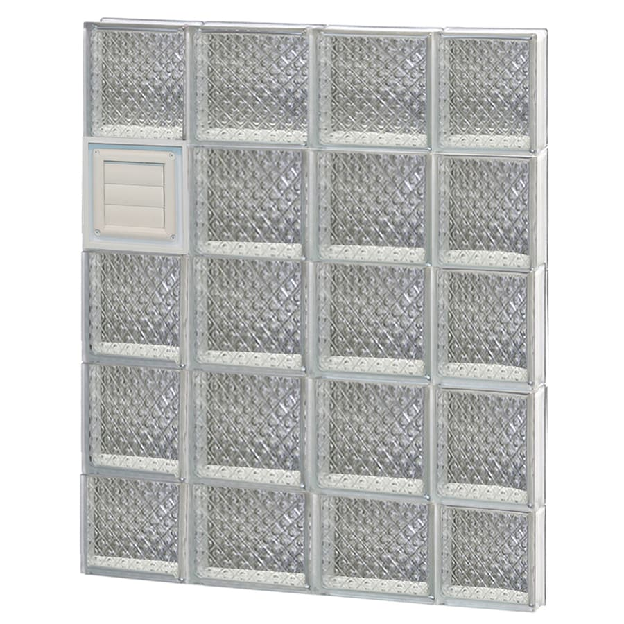 REDI2SET Diamond Glass Pattern Frameless Replacement Glass Block Window (Rough Opening: 28-in x 38-in; Actual: 27-in x 36.75-in)