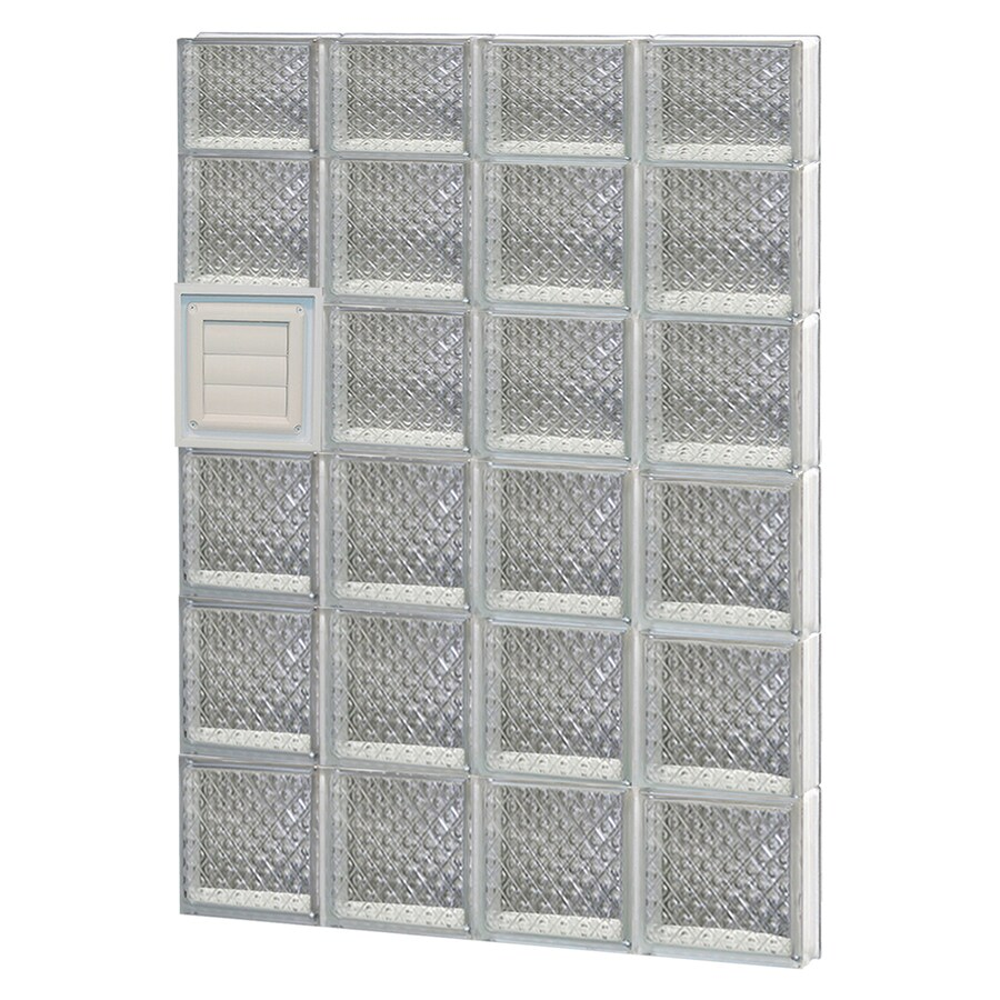 REDI2SET Diamond Glass Pattern Frameless Replacement Glass Block Window (Rough Opening: 32-in x 46-in; Actual: 31-in x 44.5-in)