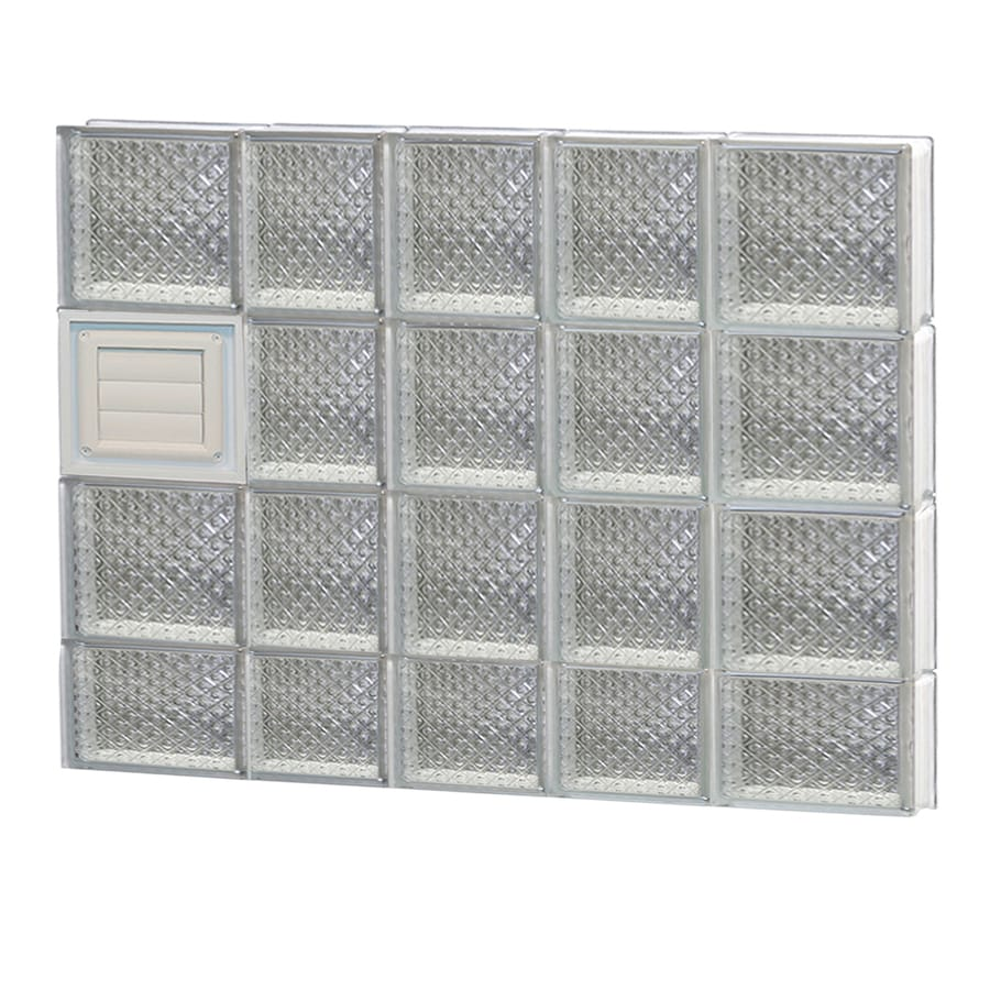 REDI2SET Diamond Glass Pattern Frameless Replacement Glass Block Window (Rough Opening: 34-in x 30-in; Actual: 32.75-in x 29-in)