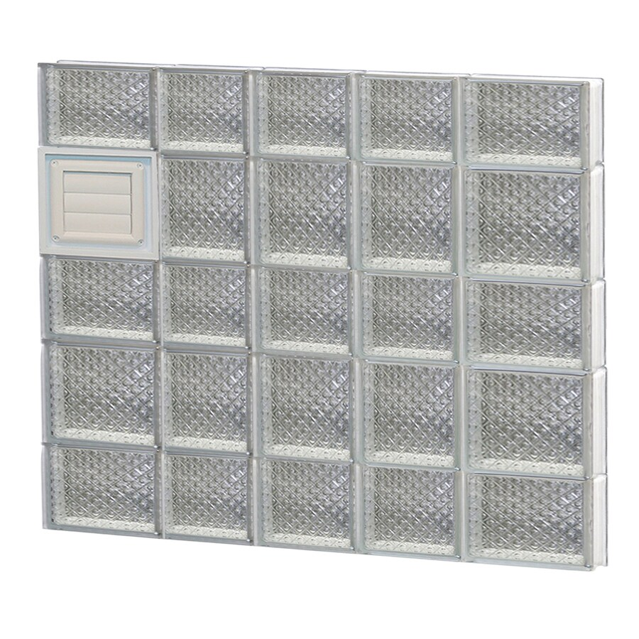 REDI2SET Diamond Glass Pattern Frameless Replacement Glass Block Window (Rough Opening: 34-in x 34-in; Actual: 32.75-in x 32.75-in)