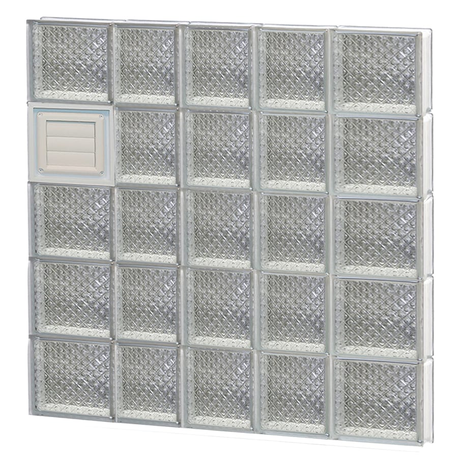 REDI2SET Diamond Glass Pattern Frameless Replacement Glass Block Window (Rough Opening: 34-in x 40-in; Actual: 32.75-in x 38.75-in)