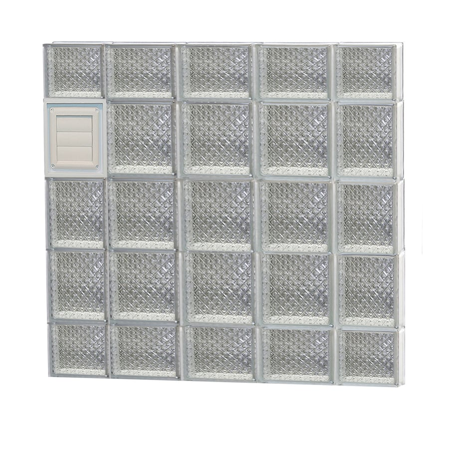 REDI2SET Diamond Glass Pattern Frameless Replacement Glass Block Window (Rough Opening: 36-in x 36-in; Actual: 34.75-in x 34.75-in)