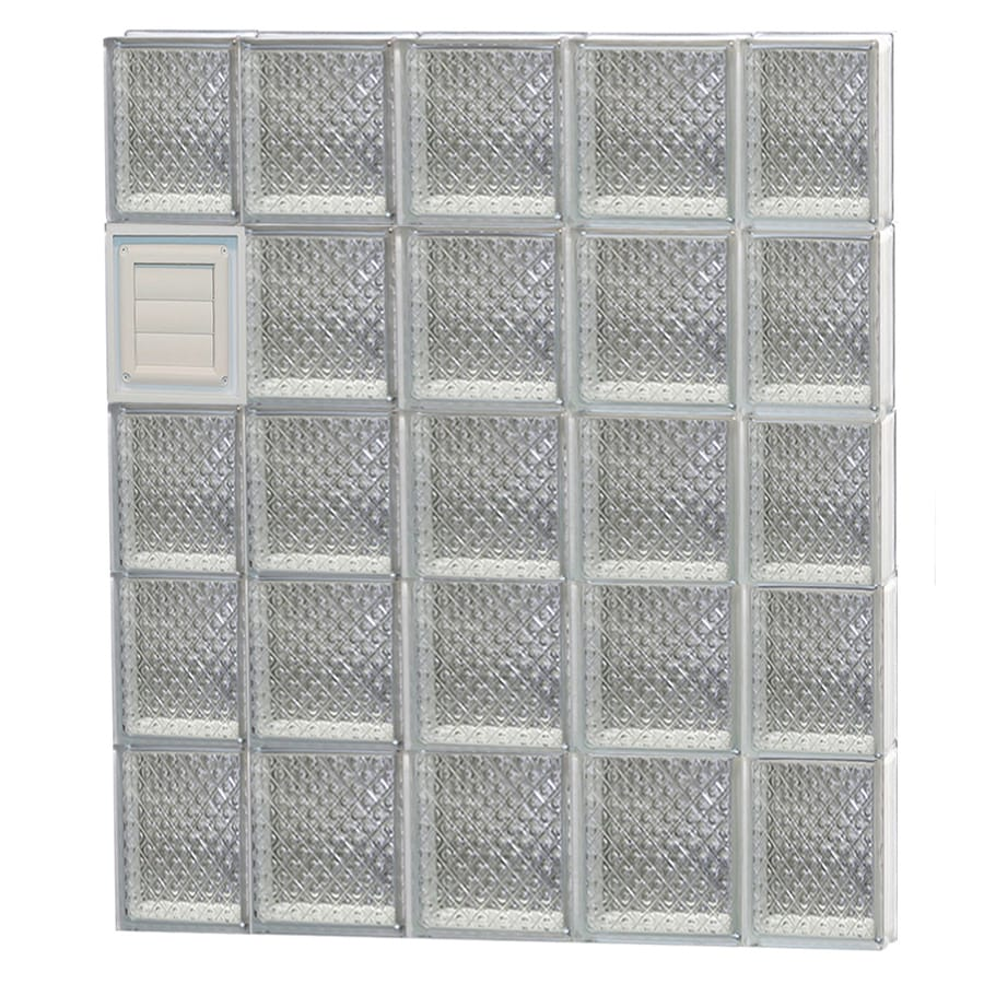 REDI2SET Diamond Glass Pattern Frameless Replacement Glass Block Window (Rough Opening: 36-in x 40-in; Actual: 34.75-in x 38.75-in)