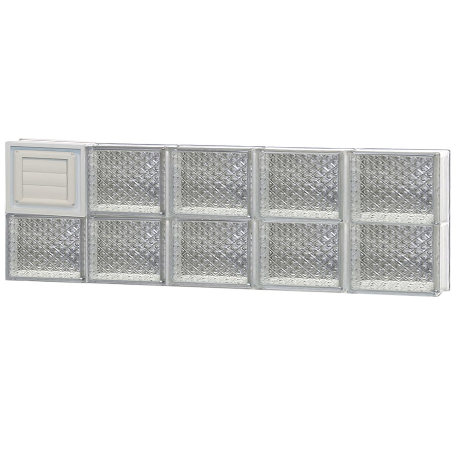 REDI2SET Diamond Glass Pattern Frameless Replacement Glass Block Window (Rough Opening: 40-in x 12-in; Actual: 38.75-in x 11.5-in)