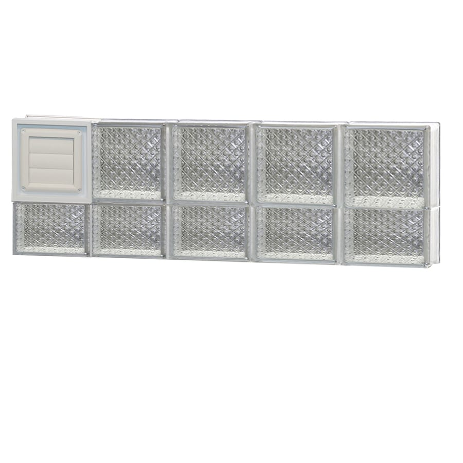 REDI2SET Diamond Glass Pattern Frameless Replacement Glass Block Window (Rough Opening: 40-in x 14-in; Actual: 38.75-in x 13.5-in)