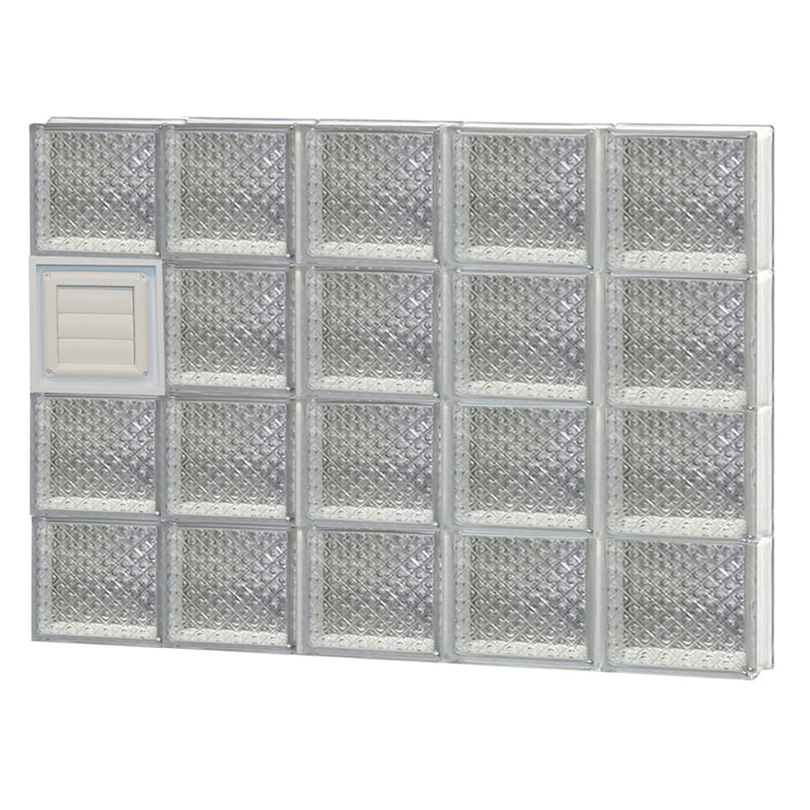 REDI2SET Diamond Glass Pattern Frameless Replacement Glass Block Window (Rough Opening: 40-in x 32-in; Actual: 38.75-in x 31-in)