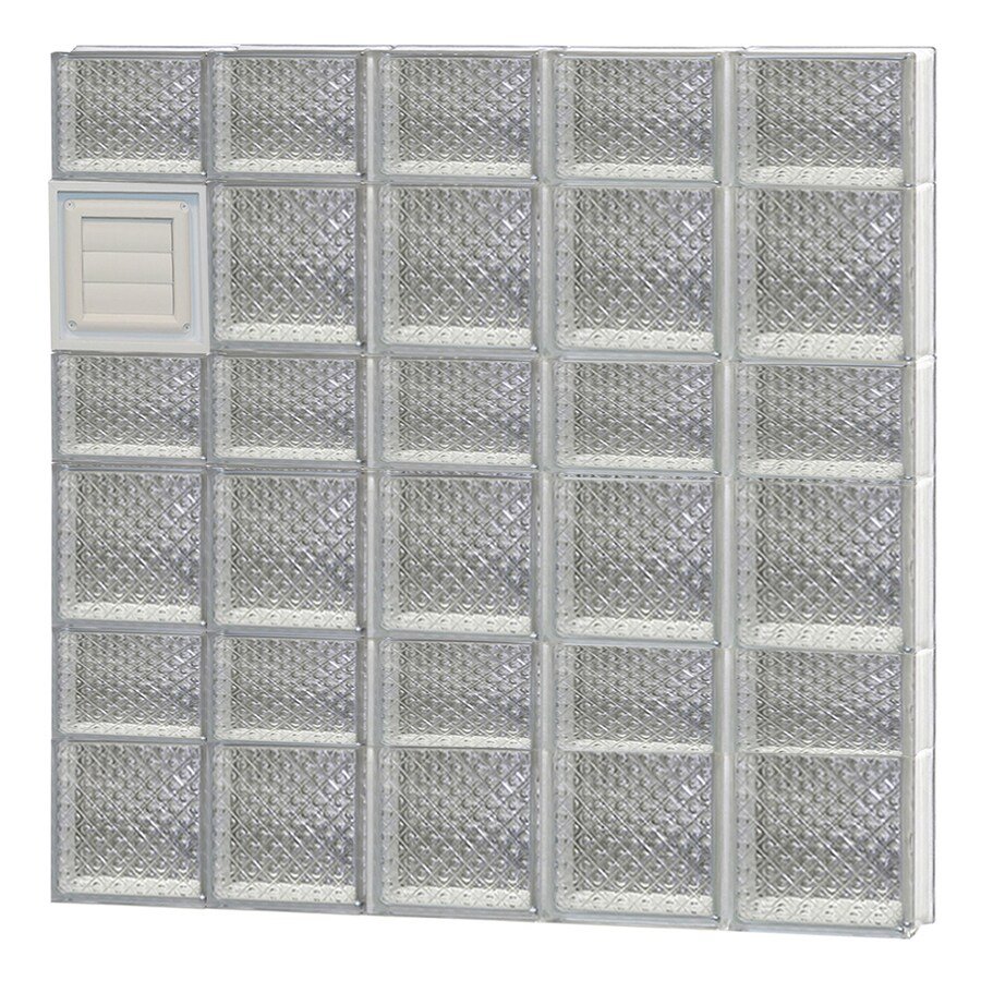 REDI2SET Diamond Glass Pattern Frameless Replacement Glass Block Window (Rough Opening: 40-in x 42-in; Actual: 38.75-in x 40.5-in)