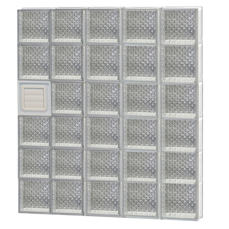 REDI2SET Diamond Glass Pattern Frameless Replacement Glass Block Window (Rough Opening: 40-in x 48-in; Actual: 38.75-in x 46.5-in)
