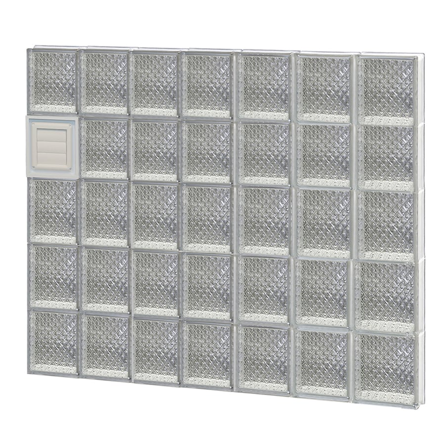 REDI2SET Diamond Glass Pattern Frameless Replacement Glass Block Window (Rough Opening: 42-in x 40-in; Actual: 40.25-in x 38.75-in)