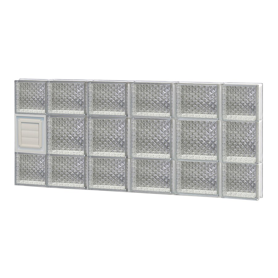 REDI2SET Diamond Glass Pattern Frameless Replacement Glass Block Window (Rough Opening: 44-in x 20-in; Actual: 42.5-in x 19.25-in)