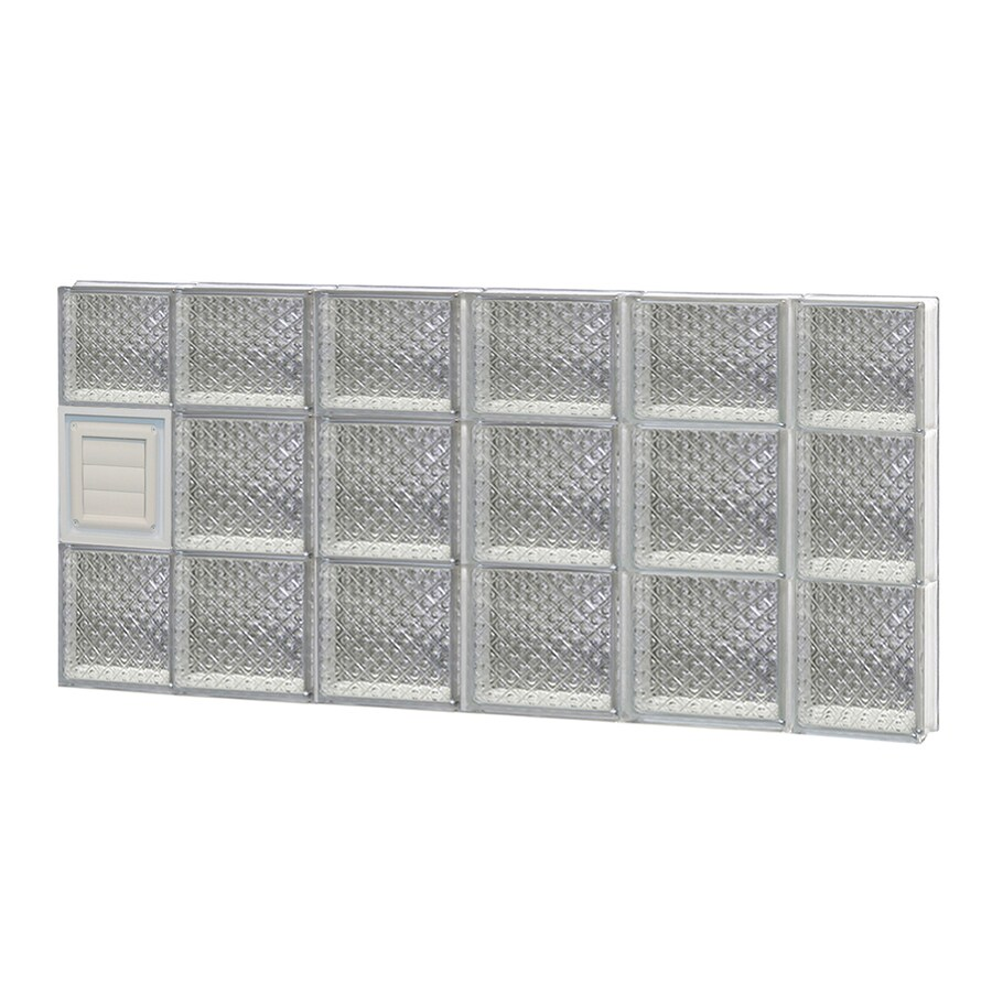 REDI2SET Diamond Glass Pattern Frameless Replacement Glass Block Window (Rough Opening: 44-in x 22-in; Actual: 42.5-in x 21.25-in)