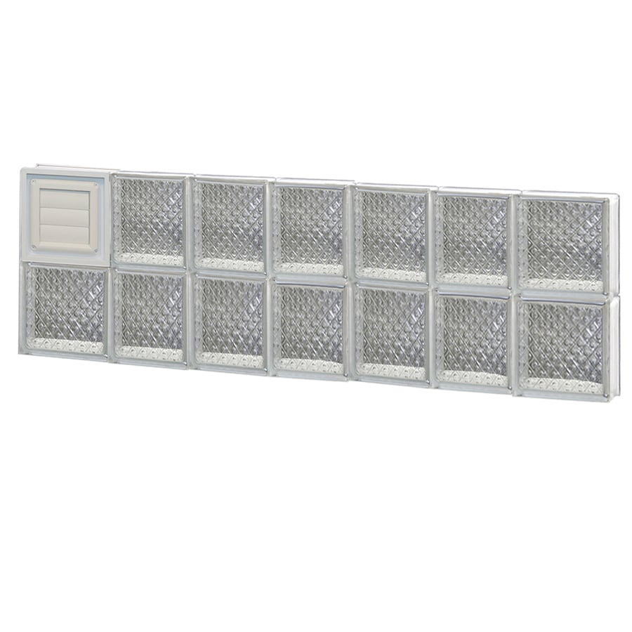 REDI2SET Diamond Glass Pattern Frameless Replacement Glass Block Window (Rough Opening: 46-in x 16-in; Actual: 44.25-in x 15.5-in)