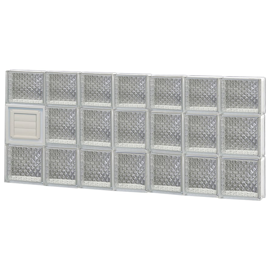 REDI2SET Diamond Glass Pattern Frameless Replacement Glass Block Window (Rough Opening: 46-in x 22-in; Actual: 44.25-in x 21.25-in)