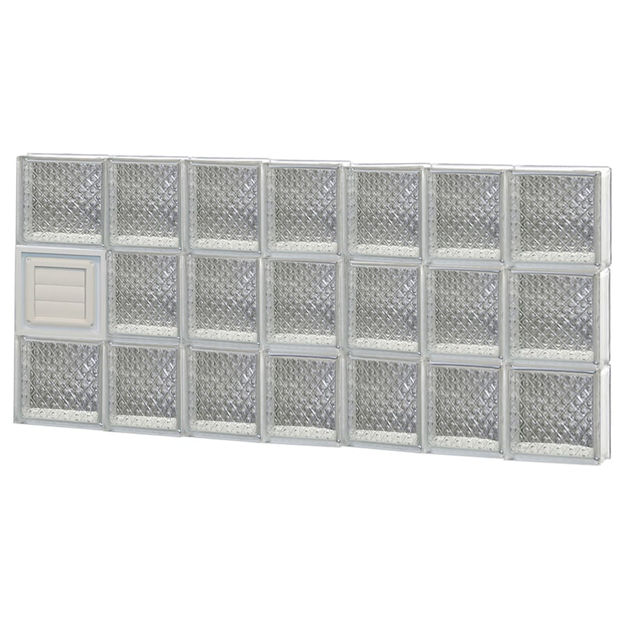 REDI2SET Diamond Glass Pattern Frameless Replacement Glass Block Window (Rough Opening: 46-in x 24-in; Actual: 44.25-in x 23.25-in)