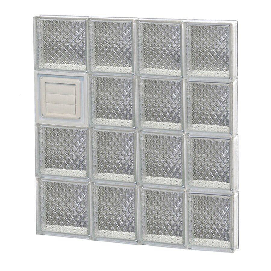 REDI2SET Diamond Glass Pattern Frameless Replacement Glass Block Window (Rough Opening: 26-in x 32-in; Actual: 25-in x 31-in)