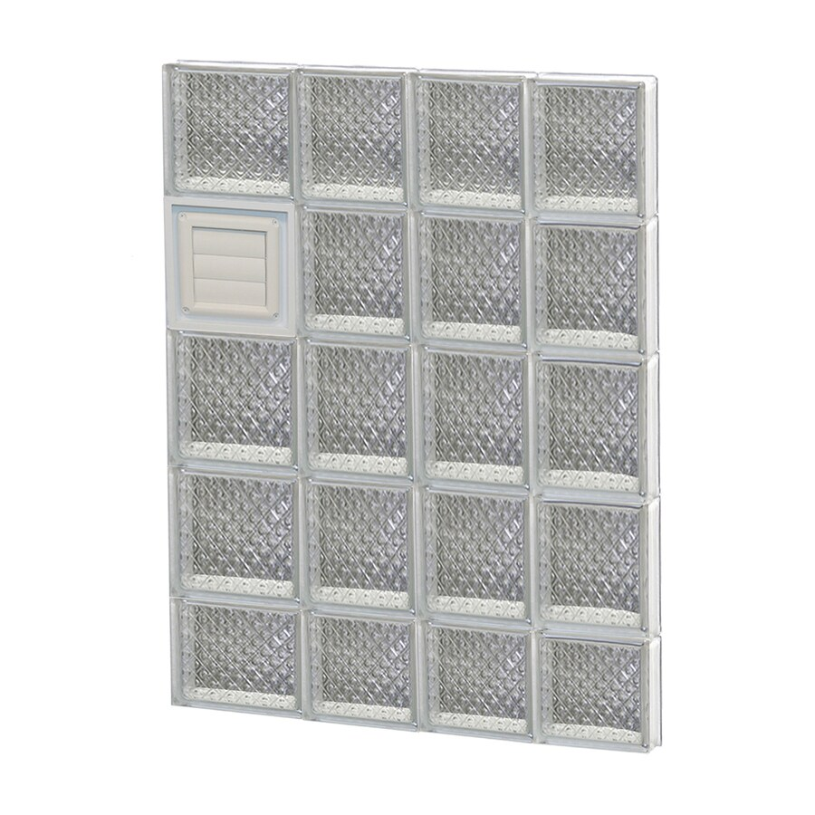 REDI2SET Diamond Glass Pattern Frameless Replacement Glass Block Window (Rough Opening: 26-in x 38-in; Actual: 25-in x 36.75-in)