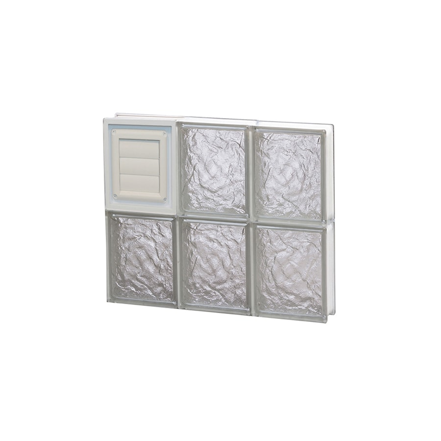 REDI2SET Ice Glass Pattern Frameless Replacement Glass Block Window (Rough Opening: 18-in x 16-in; Actual: 17.25-in x 15.5-in)