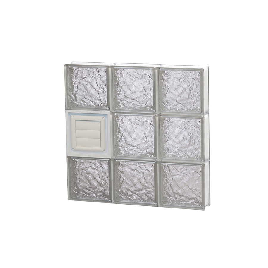 REDI2SET Ice Glass Pattern Frameless Replacement Glass Block Window (Rough Opening: 18-in x 18-in; Actual: 17.25-in x 17.25-in)