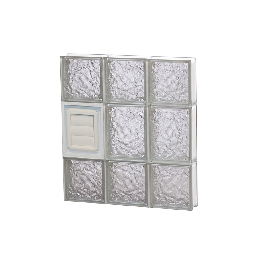 REDI2SET Ice Glass Pattern Frameless Replacement Glass Block Window (Rough Opening: 18-in x 20-in; Actual: 17.25-in x 19.25-in)