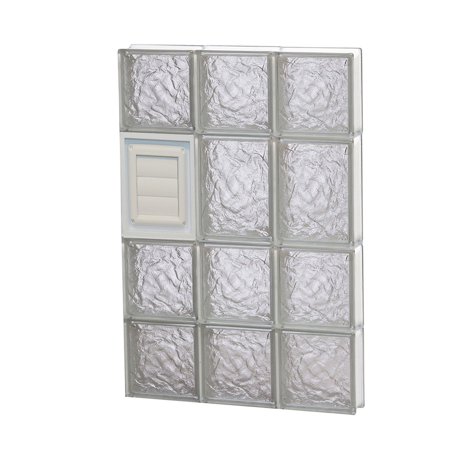 REDI2SET Ice Glass Pattern Frameless Replacement Glass Block Window (Rough Opening: 18-in x 26-in; Actual: 17.25-in x 25-in)