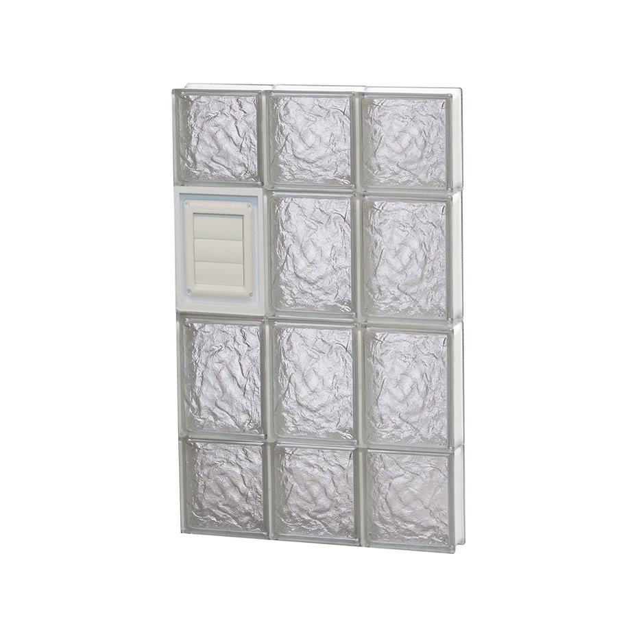 REDI2SET Ice Glass Pattern Frameless Replacement Glass Block Window (Rough Opening: 18-in x 28-in; Actual: 17.25-in x 27-in)