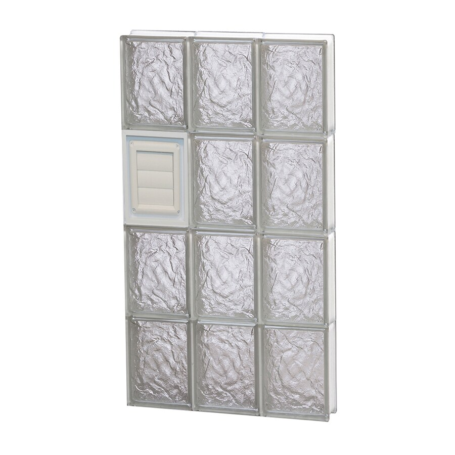 REDI2SET Ice Glass Pattern Frameless Replacement Glass Block Window (Rough Opening: 18-in x 32-in; Actual: 17.25-in x 31-in)