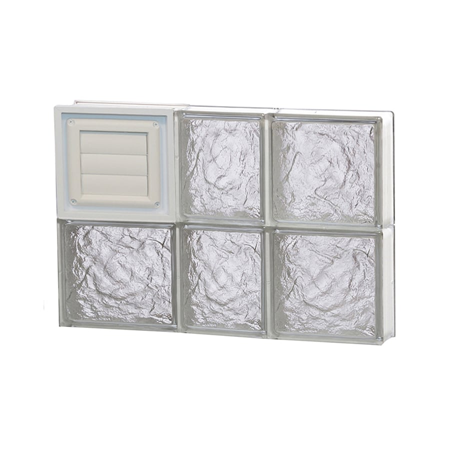 REDI2SET Ice Glass Pattern Frameless Replacement Glass Block Window (Rough Opening: 22-in x 16-in; Actual: 21.25-in x 15.5-in)