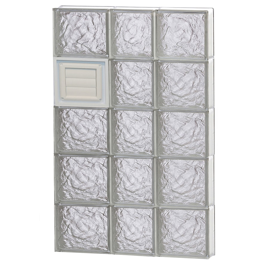 REDI2SET Ice Glass Pattern Frameless Replacement Glass Block Window (Rough Opening: 22-in x 40-in; Actual: 21.25-in x 38.75-in)